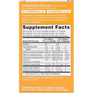Иммунная поддержка + витамины для малышей, Immune Support + Vitamins, Zarbee's, 60 мл (Default)