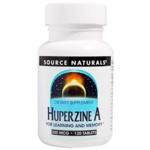 Витамины для мозга, Huperzine A, Source Naturals, 200 mcg, 120 таблеток (Default)