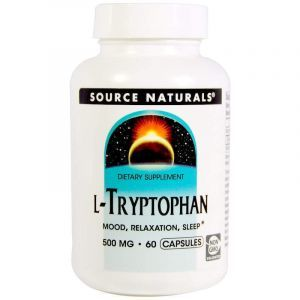 L-триптофан, L-Tryptophan, Source Naturals, 500 мг, 60 капсул (Default)