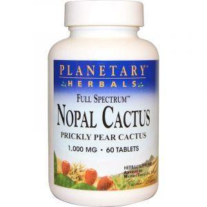 Нопал кактус, Nopal Cactus, Planetary Herbals, 1000 мг, 60 таблеток (Default)