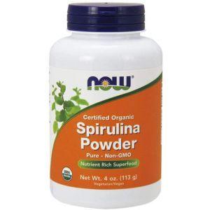 Спирулина органический порошок, Spirulina, Now Foods, 113 гр