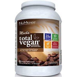 Растительный протеин, Total Vegan, NuMedica, для веганов, вкус кофе мокко, порошок, 620 г
