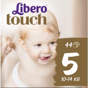 Подгузники детские Libero Touch, ЭсСиЭй Хайджин Продактс, размер 5, 10-14 кг, 44 шт