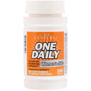 Витамины для женщин 50+ (Multivitamin Multimineral), 21st Century, 100 таблеток (Default)