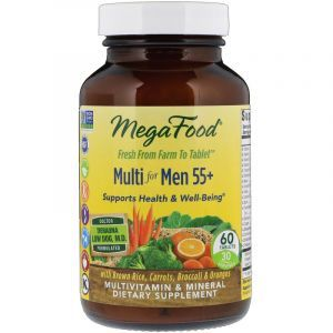 Витамины для мужчин, Multivitamin & Mineral, Mega Food, без железа, 55+, 60 таблеток (Default)