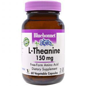 L-Теанин, L-Theanine, Bluebonnet Nutrition, 150 мг, 60 капсул (Default)