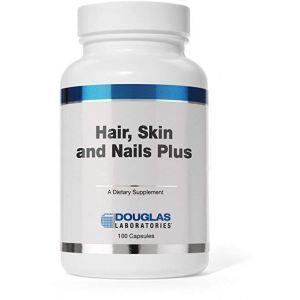 Витамины для волос, ногтей, кожи, Hair, Skin, Nail +Vitamins, Minerals, Nutrients Formulated, Douglas Laboratories, 100 капсул