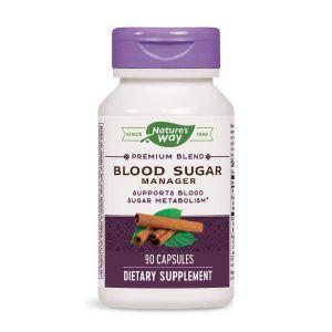 Травы для снижения сахара, гимнема, Blood Sugar, Nature's Way, 90 кап.