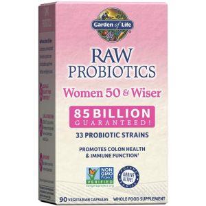 Пробиотики для женщин старше 50, Probiotics, Women 50 & Wiser, Garden of Life, 90 капсул