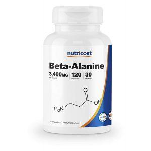 Бета-аланин, Beta-Alanine, Nutricost, 3400 мг, 120 капсул