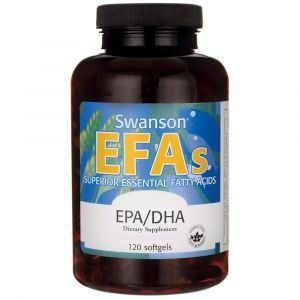 Рыбий жир, Ecomega Epa/Dha, Swanson, 180/120 мг, лимонный вкус, 120 гелевых капсул