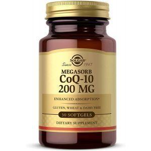 Коэнзим Q10, Megasorb CoQ-10, Solgar, 200 мг, 30 гелевых капсул