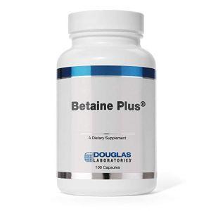 Бетаин, поддержка пищеварения, Betaine Plus, Douglas Laboratories, 100 капсул