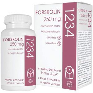 Форсколин,  Forskolin 1234, Creative Bioscience, 60 вегетарианских капсул