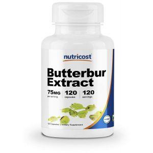 Белокопытник, экстракт, Butterbur Extract, Nutricost, 75 мг, 120 капсул
