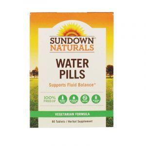 Мочегонное без кофеина, Water Pills, Sundown Naturals, 60 таб. (Default)