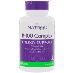 Комплекс В-100, Complex, Natrol, 100 таблеток