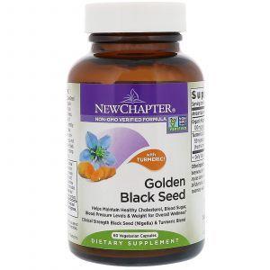 Черный тмин, Golden Black Seed, New Chapter, 60 вегетарианских капсул