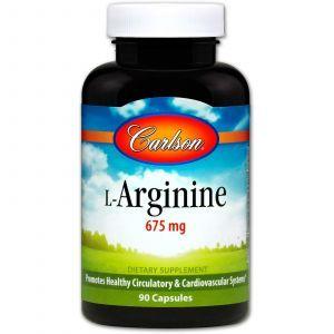L-аргинин, Carlson Labs, 675 мг, 90 капсул.