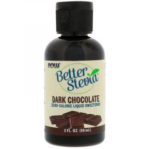 Стевия (вкус черного шоколада), Stevia Liquid, Now Foods, 60 мл (Default)