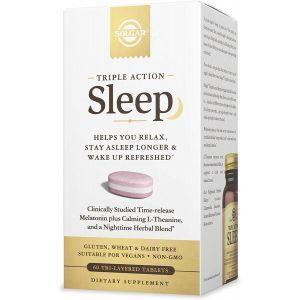 Формула сна, Sleep, Solgar, тройного действия, 60 трехслойных таблеток