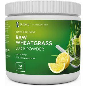 Пророщенная пшеница, Raw Wheatgrass, Dr. Berg's, порошок сырого сока, вкус лимона, 164 г
