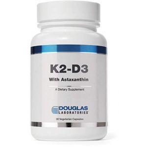 Витамины К2-Д3 з астаксантином, K2-D3 With Astaxanthin, Douglas Laboratories, 30 капсул