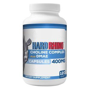 Комплекс холина с ДМАЭ,  Choline Complex plus DMAE, Hard Rhino, 120 вегетарианских капсул