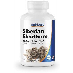 Женьшень сибирский, Siberian Eleuthero, Nutricost, 500 мг, 240 капсул