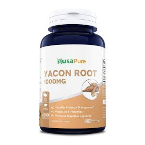 Якон, экстракт корня, Yacon Root, NusaPure, 1000 мг, 200 капсул