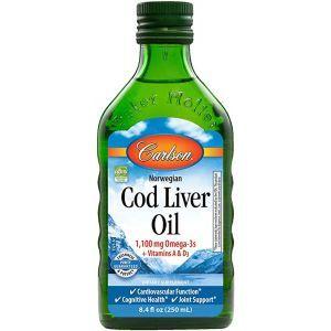 Рыбий жир из печени трески, Cod Liver Oil, Carlson Labs, норвежский, 250 мл