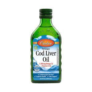 Масло печени трески, Norwegian Cod Liver Oil Omega-3 EPA & DHA, Carlson Labs, 250 мл