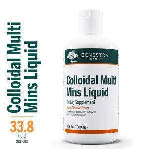 Минеральный комплекс, IColloidal Multi Mins Liqui, Genestra Brands, апельсиновый вкус, 1000 мл (1л)