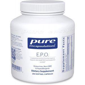 Масло примулы вечерней, E.P.O. (evening primrose oil), Pure Encapsulations, 250 капсул