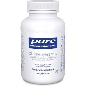 DL-фенилаланин, DL-Phenylalanine, Pure Encapsulations, 90 капсул
