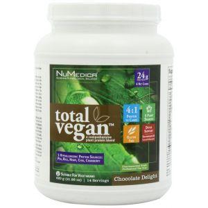 Растительный протеин, Total Vegan, NuMedica, для веганов, вкус шоколада, порошок, 620 г