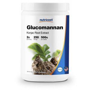 Глюкоманнан, Glucomannan, Nutricost, порошок, 500 грамм