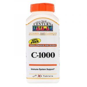Витамин С, 21st Century, 1000, Лонг, 110 таблеток (Default)