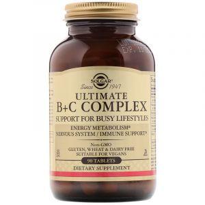 Витамин В + С комплекс, Ultimate B+C, Solgar, 90 таблеток (Default)