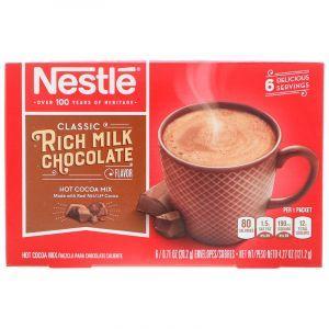 Какао со вкусом молочного шоколада, Rich Milk Chocolate, Nestle Hot Cocoa Mix, 6 пакетов, по 20,2 г (Default)