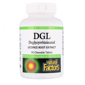 Корень солодки, DGL, Licorice Root, Natural Factors, экстракт, 90 таблеток (Default)