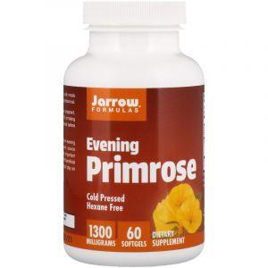 Масло вечерней примулы, (Evening Primrose), Jarrow Formulas, 1300 мг, 60 кап. (Default)