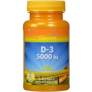 Витамин Д-3, D-3, Thompson, 5000 МЕ, 30 гелевых капсул