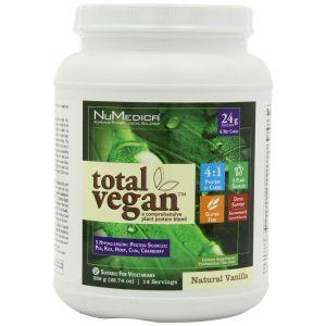 Растительный протеин, Total Vegan, NuMedica, для веганов, вкус ванили, порошок, 588 г