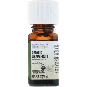 Эфирное масло грейпфрута (Essential Oil Grapefruit), Aura Cacia, органик, 7,4 мл (Default)