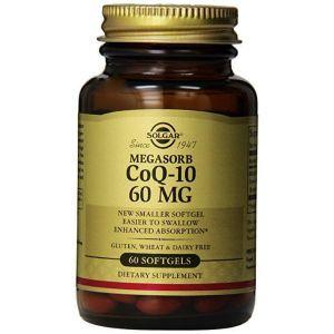Коэнзим Q10, CoQ-10 Megasorb, Solgar, 60 мг, 60 капсул
