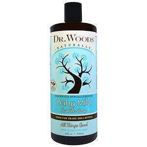 Кастильское мыло, Castile Soap, Dr. Woods, с маслом ши, без запаха, 946 мл