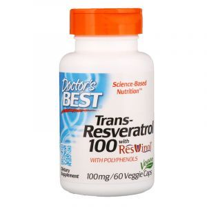 Ресвератрол, Resveratrol, Doctor's Best, 100 мг, 60 капсул (Default)