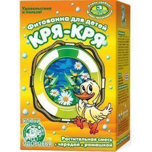 Фитованна №4 Кря-Кря, Ключи здоровья, для детей, с чередой и ромашкой, 3 фильтр-пакета по 30 г