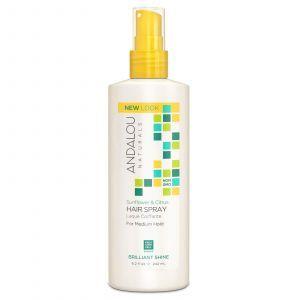 Лак для волос нормальной фиксации (Sunflower Citrus Hair), Andalou Naturals, 242 м